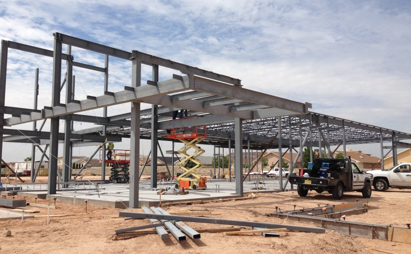 Concrete and steel erection work for a free standing hospital emergency room. | El Paso, TX